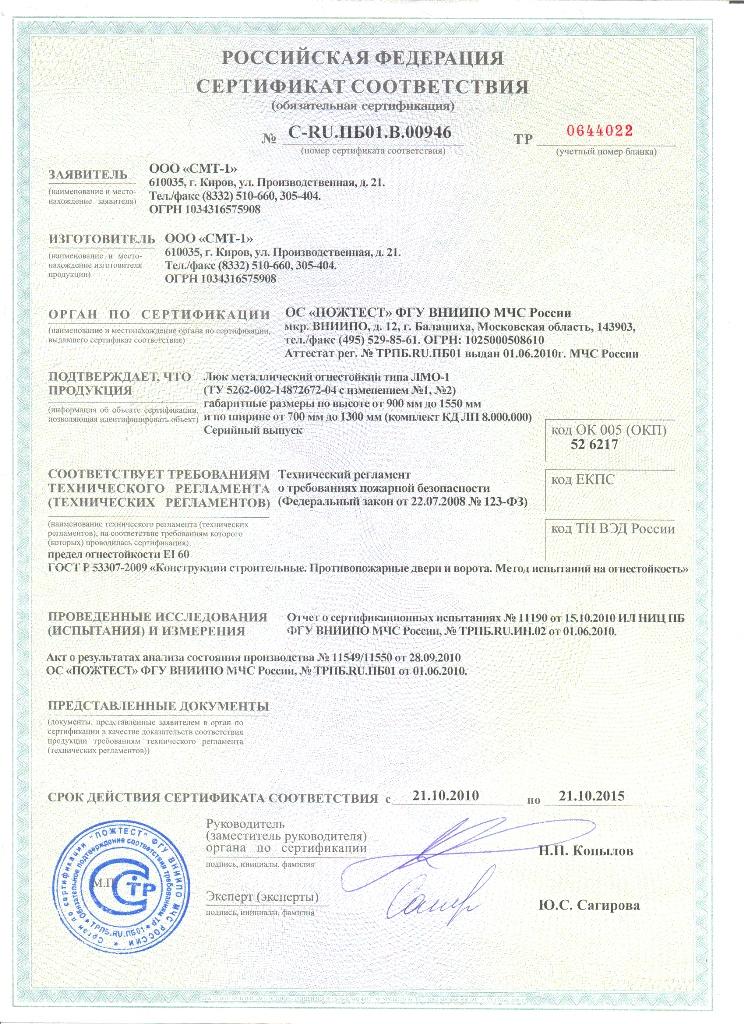 Противопожарный Сертификат На Дверь